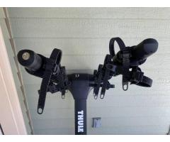 Secondhand Thule Apex XT 4 hanging hitch mount bike rack